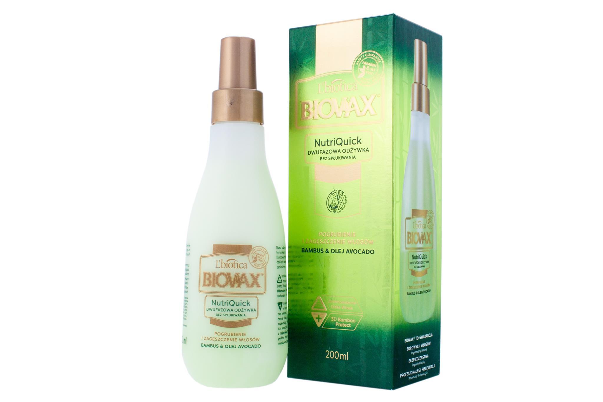 L'biotica Biovax Bambus & Avocado Repairing Hair Oil